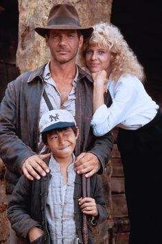 Harrison Ford, Kate Capshaw, and Ke Huy-Quan; Indiana Jones and the Temple of Doom (1984)