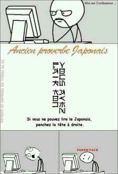 Le nihongo est difficil à lire..
