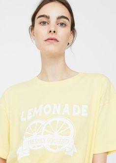 Message cotton t-shirt | MANGO