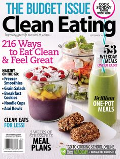 Our annual budget issue is on newsstands now! Find hundreds of ways to clean up your lifestyle while saving money. Take a peek inside: http://www.cleaneatingmag.com/current-issue/