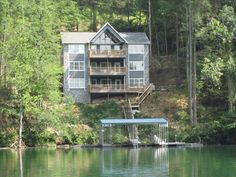 """Norris Lake Rentals Off Waterfront Trl, La Follette, TN 37766 Welcome to the """"BIG Dipper"""". This massive, 4,500 square foot, 3 floor lakeside cabin offers cathedral ceilings, huge kitchen and formal dining room ..."""