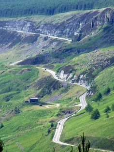 The Rhigos mountain road, the Rhondda Valley