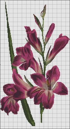 This Pin was discovered by Edn Just Cross Stitch, Cross Stitch Flowers, Counted Cross Stitch Patterns, Cross Stitch Charts, Cross Stitch Designs, Cross Stitch Embroidery, Pixel Crochet Blanket, Seed Bead Flowers, Christmas Embroidery Patterns
