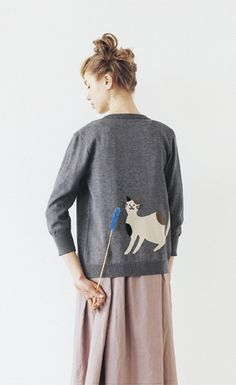 Cat scratch cardigan