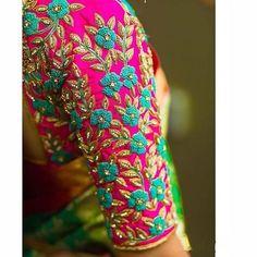 Wedding Saree Blouse Designs, Silk Saree Blouse Designs, Blouse Neck Designs, Blouse Patterns, Sleeve Designs, Saree Wedding, Hand Work Blouse Design, Simple Blouse Designs, Stylish Blouse Design