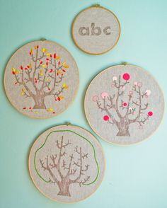 New! 4 Seasons of Embroidery from Purl Soho + EggPress - The Purl Bee - Knitting Crochet Sewing Embroidery Crafts Patterns and Ideas!