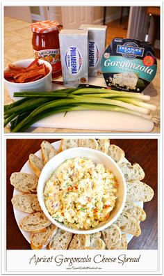 Apricot Gorgonzola Cheese Spread