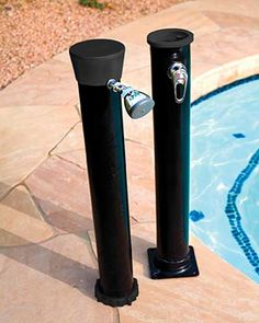 Outdoor Solar Shower with Base for Swimming Pools #outdoorshower #poolshower #pools