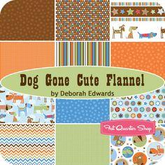 Dog Gone Cute Flannel Fat Quarter Bundle Deborah Edwards for Northcott Fabrics - Fat Quarter Shop
