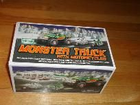 Hess Truck New with box Monster Truck with Motorcycles 2007 for this and more visit me at www.dandeepop.com
