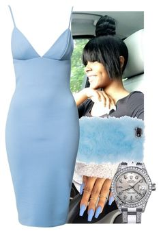 """""""Night On The Town"""" by aribearie ❤ liked on Polyvore featuring Rolex, Skinnydip and Dark Pink"""