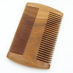 Beautyours Natural Green Sandalwood Beard Comb Pocket Fine & Coarse Teeth Dual Brush for Mustache Anti-Static by Beautyours -- Awesome products selected by Anna Churchill