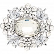 Crystal Moonlight Flower Pin Austrian Crystal Fashion Pin Brooch And Pendant(Chain Not Included)