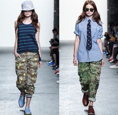 Mark McNairy New Amsterdam 2014 Spring Summer Womens Runway Collection - New York Fashion Week - Rubber Duckie Camouflage Plaids Nautical Jackets Parkas Overalls: Designer Denim Jeans Fashion: Season Collections, Runways, Lookbooks and Linesheets