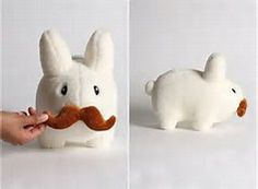 plush rabbit with a mustache - Bing Images
