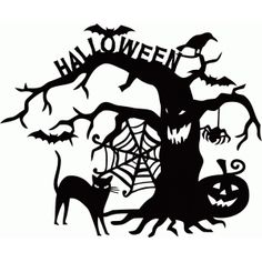 Welcome to the Silhouette Design Store, your source for craft machine cut files, fonts, SVGs, and other digital content for use with the Silhouette CAMEO® and other electronic cutting machines. Photo Halloween, Halloween Vinyl, Halloween Window, Halloween Trees, Halloween Images, Halloween Stickers, Halloween Signs, Halloween Projects, Diy Halloween Decorations