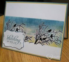 Brayered Thinking of You Silhouette by darbaby - Cards and Paper Crafts at Splitcoaststampers