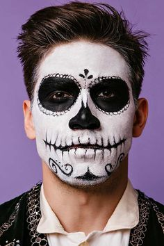 day of the dead makeup for men  dead makeup male makeup