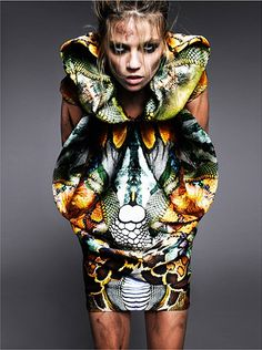 alexander mcqueen dress #print