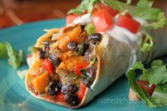 Roasted Veggie and Black Bean Burrito on MyRecipeMagic.com