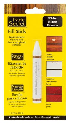 Trade Secret: White Fill Stick