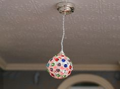 Dolls House Miniature Disco Colour Changing Hanging Ceiling Light - Over 10,000 other miniature dollshouse items in stock! Visit www.thedollshousestore.co.uk