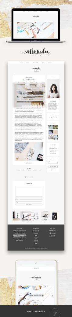 Soft, minimal blog by Amanda Raines running on Station Seven's WordPress theme, Kindred.