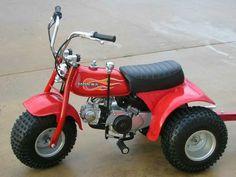 Ein Trike: Honda ATC 70, USA. In den 80er Jahren konnte ich es am Strand von Daytona Beach, Florida leihen!