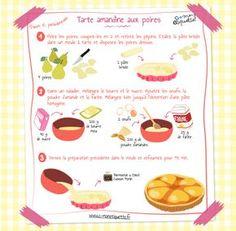 Amandine tart recipe - Easy And Healthy Recipes Pear And Almond Tart, Pear Tart, Lunch Box Recipes, Snack Recipes, Dessert Recipes, Drink Recipe Book, Shortcrust Pastry, Tart Recipes, Seafood Recipes