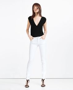 SKINNY MID-RISE TROUSERS-View All-TROUSERS-WOMAN | ZARA United States