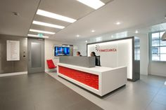 Reception - Minimalist Style with Dramatic Effect Red Effect. Geometical expanding form. Backdrop done by Eyetonic on glass