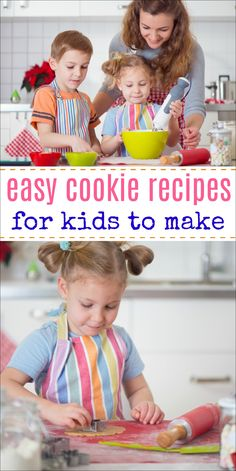 Easy cookie recipes for kids – All of these delicious cookies have been baked by kids. Try them out with your child for a fun bonding experience! Toddler Cookies, Cookies For Kids, How To Make Cookies, Making Cookies, Cookie Recipes For Kids, Kids Cooking Recipes, Best Cookie Recipes, Easy Meals For Kids, Toddler Meals