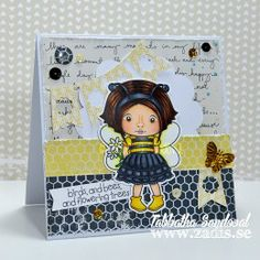 Birds and Bees and Flowering Trees Bumble Bee Marci - The Zadis Project #cardmaking #copicmarkers