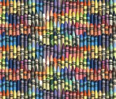 Neverending Box of Jumbo Crayons by weavingmajor, click to purchase fabric