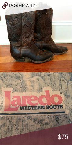 Selling this Laredo Western Boots on Poshmark! My username is: bluemom210. #shopmycloset #poshmark #fashion #shopping #style #forsale #Laredo #Shoes