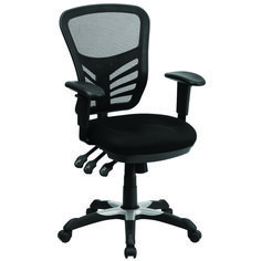 Add a fun pop of color to your office with the Flash Furniture Mid-Back Purple Mesh Swivel Task Chair with Triple Paddle Control . This breathable chair. Best Office Chair, Executive Office Chairs, Swivel Office Chair, Ergonomic Office Chair, Office Desk, Work Chair, Corner Office, Feng Shui, Decoration Ikea