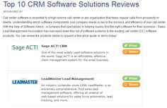 LeadMaster is in the Top 10 List of Best CRM Software Solutions determined by Software Advice. LeadMaster's CRM software works! Lead Management, The Help, Software, Advice, Top, Tips, Crop Shirt, Shirts