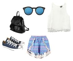 """Untitled #117"" by adri-98 on Polyvore featuring Boohoo, Wet Seal, Converse, PARENTESI and Illesteva"