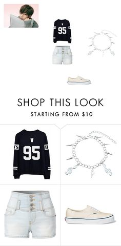 """""""happy birthday V"""" by shania-dancequeen2k17 on Polyvore featuring LE3NO and Vans"""