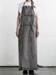 WOMEN DESIGNER :: LOST&FOUND :: 15SS :: LOST&FOUND apron GREY