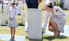 William and Kate visit Commonwealth War Graves