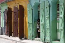 Cap-Haïtien is characterized by colourful shutters