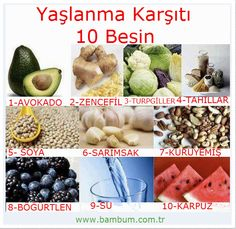 Bambum Blog | Blog.bambum.com.tr » Yaşlanma Karşıtı 10 Besin