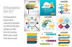 Infographic Set 17 by hermin.u on Creative Market