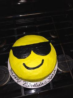 Birthday emoji cake