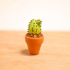 Cactus Totem // Miniature Polymer Clay Cacti Plant Terrarium Figurine