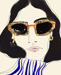 Rosie McGuinness - Fashion, Line-up and Editorial Illustrator - Lipstick of London
