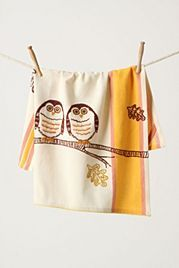 Wide-Eyed Dishtowel #owl #towel