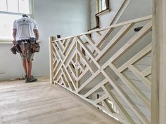 """""""A Chippendale railing (yes, the Chippendale) made by our friends@sweenor_buildersfor our idea house. Apparently, Mr. Chippendale saw the pattern in China and brought it to England in the 18th Century. Not as fancy as his chairs or highboys but pretty damn nice all the same."""""""