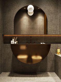 Using Gold Accents In Interior Design cool tile Bathroom Washroom Design, Toilet Design, Bathroom Interior Design, Gold Interior, Washroom Tiles, Interior Plants, Bad Inspiration, Bathroom Inspiration, Bathroom Ideas